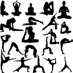 yoga collection vector
