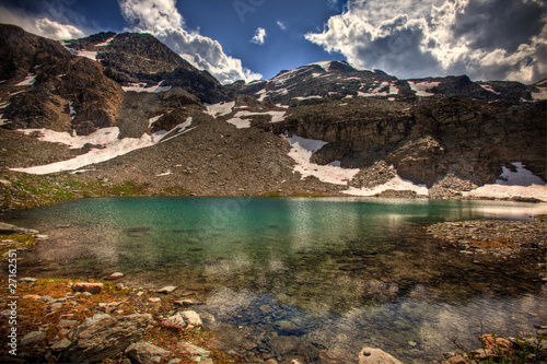 Leinwandbild Motiv Mountain Glacier Water