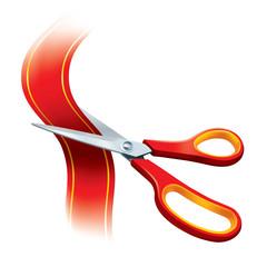 Red Scissors Cutting Red Tape