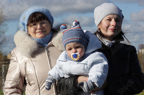 Grandmother with daughter and grandson