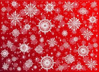 Fiocchi di Neve in Cristalli-Crystal Snowflakes Background-2