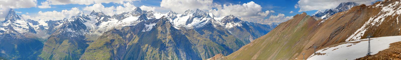alpine panorama in summer