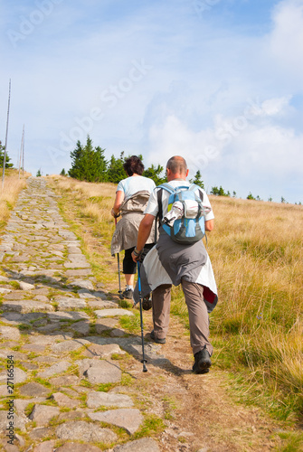 People hiking