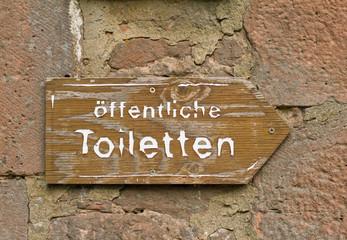 Toiletten Hinweisschild