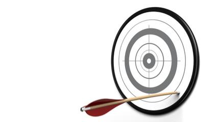 cible et flèche - volonté et persévérance atteindre son but