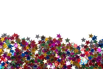 Multicolored glittering stars