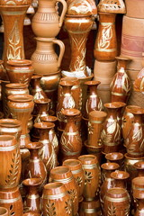 Beautiful handmade clay pots