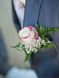 Boutonniere and tux detail poster
