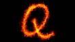 Fire letter Q graffiti HD