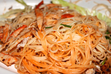 Kuai Tiew Pad Thai or Thai Fried Noodle