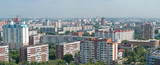 Novosibrsk, the biggest Siberian city - panoramic view poster