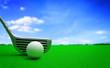 golf ball and a metal golf club
