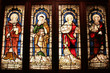 Biblical prophets in Perth cathedral - stained glass art