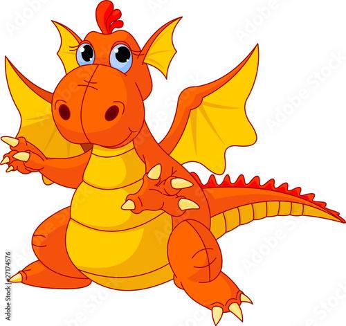 Poster Pony Cartoon baby dragon