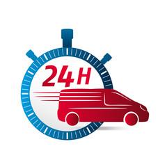 icône livraison 24h, logo chronomètre