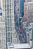 Aerial panoramic view over upper Manhattan from Empire State bui poster
