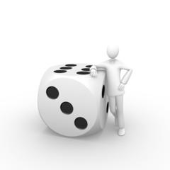 Aside a huge dice