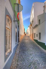 Gasse in Lagos an der Algarve