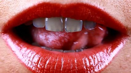 les lèvres sexy....