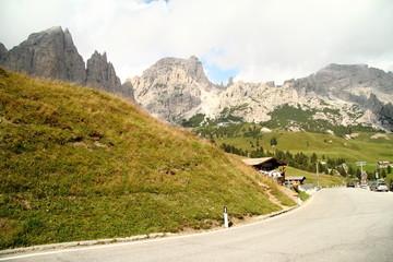 Great Cir mountain,Gardena mountain pass