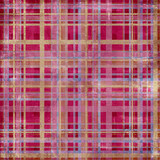 Shabby plaid background in pink poster