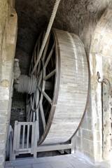 Monte charge humain du Mont-Saint-Michel