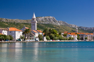 Croatia - old city between sea and mountains