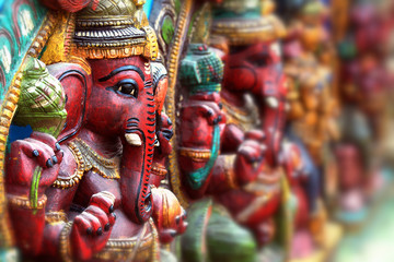 Wooden Statue of Lord Ganesha