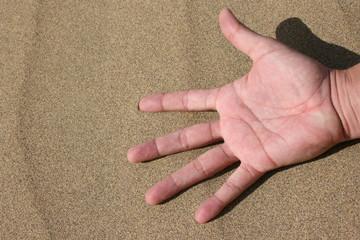 Finger in der wüste
