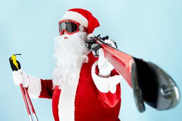 Santa with skis
