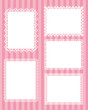 square lace stripes background