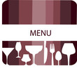 menu template design. glasses forks and spoons