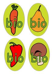 Etiquettes Légumes Bio