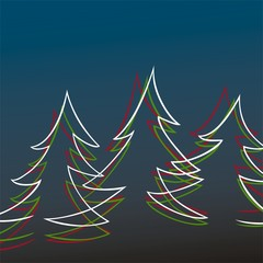 Christmas trees- background