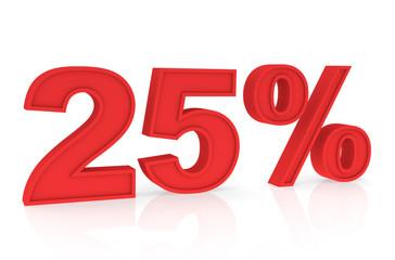 Rabatt Prozent 25%