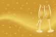 Champagne flutes for celebration