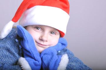 cute little smiling Santa girl