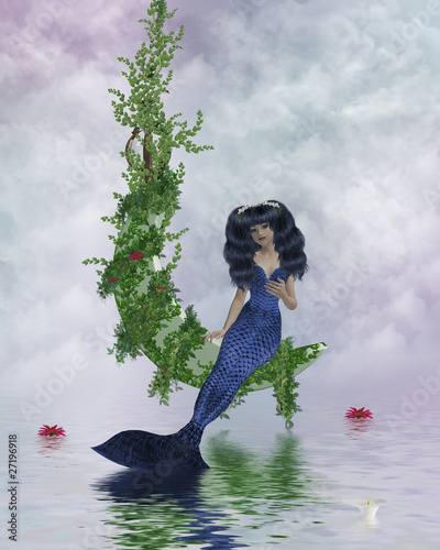 Plexiglas Zeemeermin Moon Mermaid