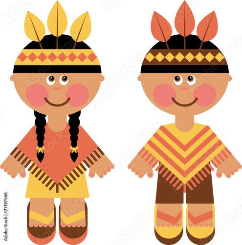 Fotobehang Indiërs children in ethnic costumes