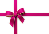 Present wrapped with pink silk ribbon