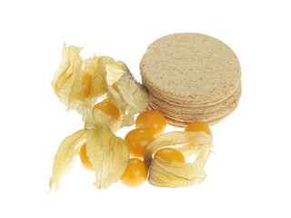 Oat Cakes with Physalis Fruit