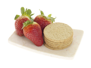 Oat Cakes with Strawberries