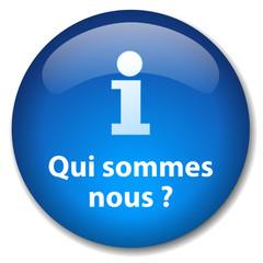 """Bouton Web """"QUI SOMMES-NOUS?"""" (informations en savoir plus info)"""