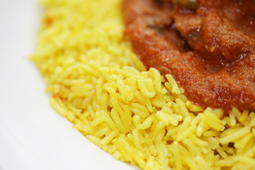 Lamb Rogan Josh with Pilau Rice