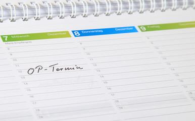 Kalendereintrag - OP-Termin.