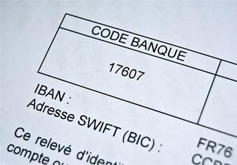 Relevé d'identité bancaire - RIB