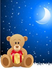 Glückwunschkarte mit Teddybär