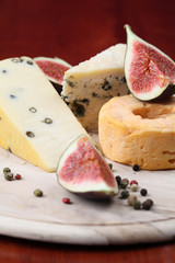 Cheese board with figs