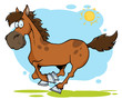 Galloping Cartoon Horse