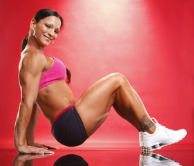 Fitness model and workout routine